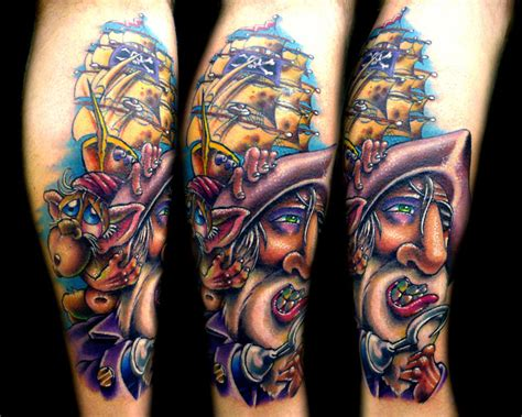 josh woods tattoo pirate by josh woods tattoonow