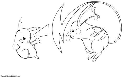 pikachu vs raichu lineart by jamalc157 on deviantart