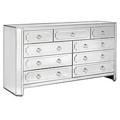 Z Gallerie Mirrored Dresser z gallerie simplicity mirrored 9 drawer dresser