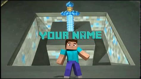 minecraft intro templates for android top 10 free minecraft intro outro templates down youtube