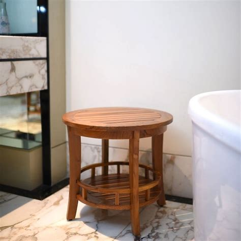 Bathroom Side Table Spa Side Table Small Teak Picnic Bathroom Wood Pool For Entryway Deck New Tables