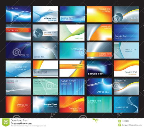 z card template business card template set stock image image 11877071