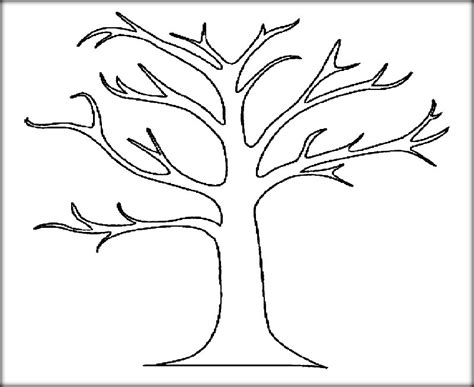tree coloring pages for kids printable color zini