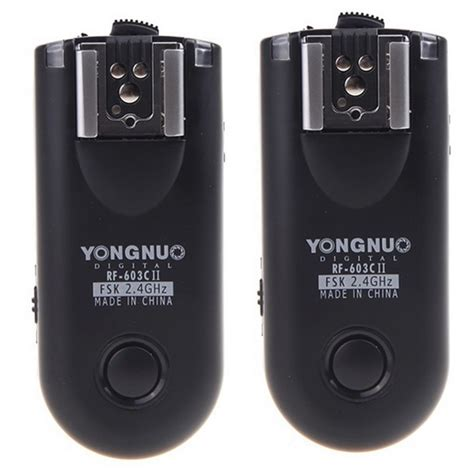 Yongnuo Rf 603 new yongnuo rf 603c ii wireless remote flash trigger for only 38 camfere china gadgets reviews