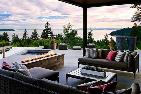 design house furniture vancouver ocean view home embraces earth fire air water