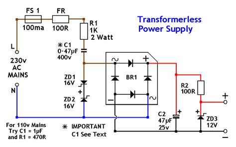 datasheet resistor variabel transformerless power supply