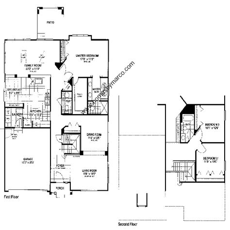 homes by marco floor plans abbott model in the inverness subdivision in vernon hills