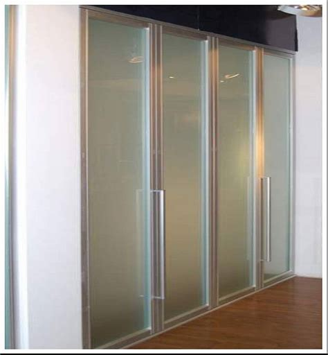 Wardrobe Bi Fold Doors by Frame Frosted Glass Bi Fold Wardrobe Doors Home Design