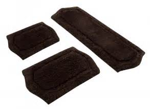 bath rugs and mats 3 paradise memory foam bath rug set in chocolate