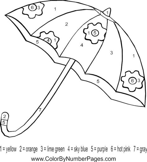 84 umbrella coloring pages for kids umbrella coloring letter u umbrella color by number page preschool letter