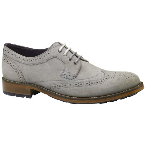 trend classic suede derby grey lyst ted baker casuede derby lace up brogues in gray for