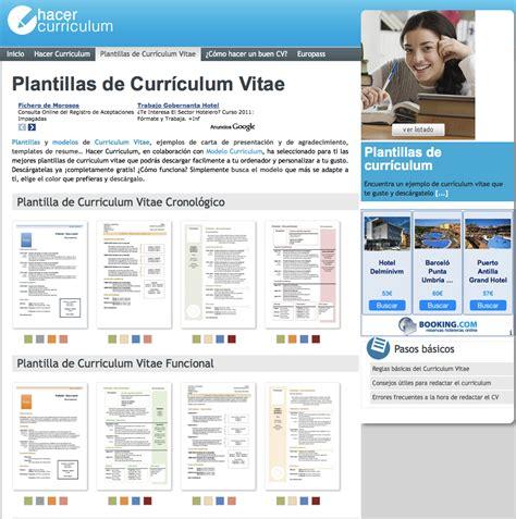 Plantillas De Curriculum Vitae Atractivo plantillas de curr 237 culum vitae hacer curriculum guides