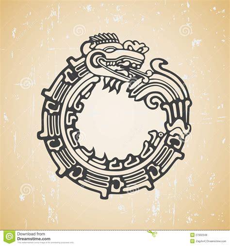 maya snake quetzalcoatl ouroboros royalty free stock