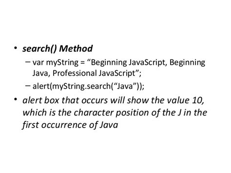 java occurrence of a pattern applied component i unit 2