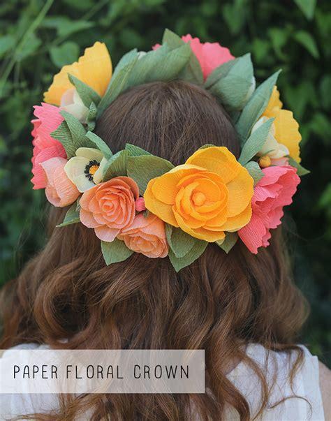 diy paper flower crown tutorial paper floral crown diy for life