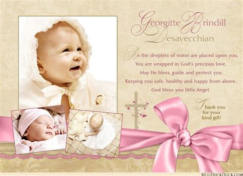 thank you card bautism template word christening thank you verse wording ideas for baptism cards