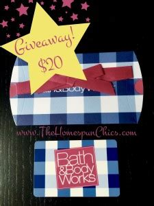 printable gift certificates bath and body works giveaway 20 bath and body works gift card
