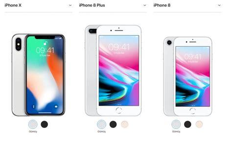 iphone x iphone 8 iphone 8 plus karşılaştırması