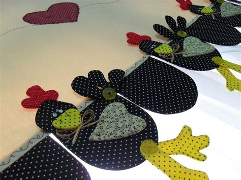 cenefas de gallinas en patchwork cortina de gallinas molde cenefas y aplicaciones