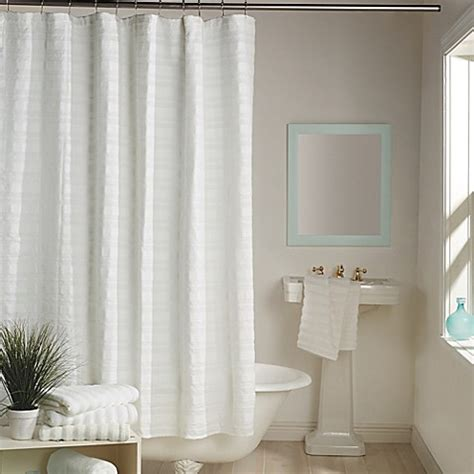 dkny shower curtains dkny urban dash shower curtain in white bed bath beyond