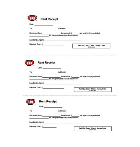 rent receipt template ontario free receipt template doc for word documents in different types