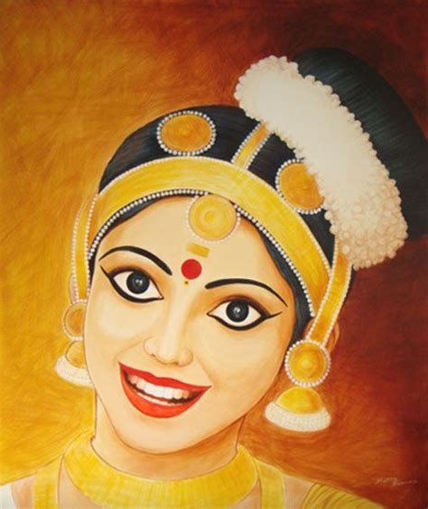 mohiniyattam painting lots gallery pinterest paintings