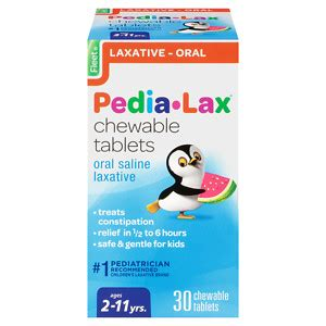 Pedia Lax Stool Softener Chewables fleet children s pedia lax children s chewable tablets