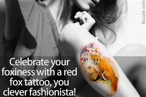 uncover the meaning of a fox tattoo with some fun design ideas