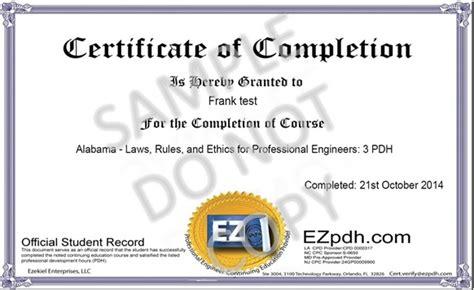 Certificate Sle1 Jpg Ez Pdh Com Pdh Certificate Template