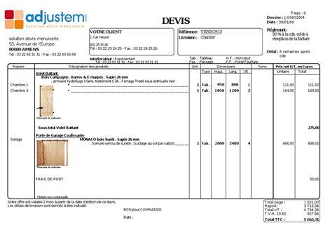 Demande De Devis Exemple 3258 by Adjustem Solution De Devis Menuiseries Le Logiciel