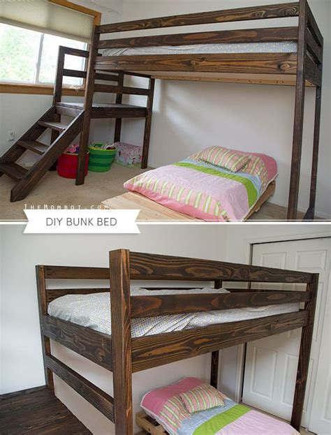 diy loft bed with stairs diy bunk bed with stairs built with free plans from ana