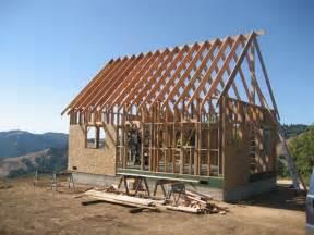 frame a house ca mountain cabin