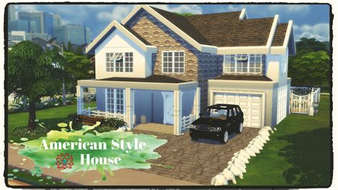 Sims 4   American Style House (Build & Decoration)   Dinha