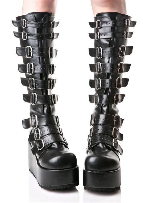 demonia platform boots demonia concord buckle platform boots dolls kill