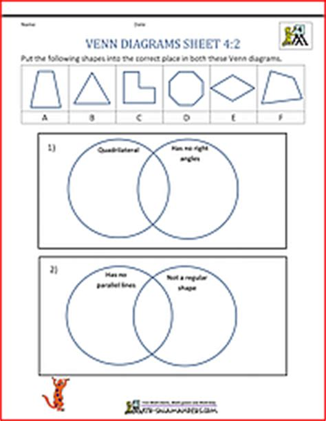 diagram fourth grade math venn diagram worksheet 4th grade