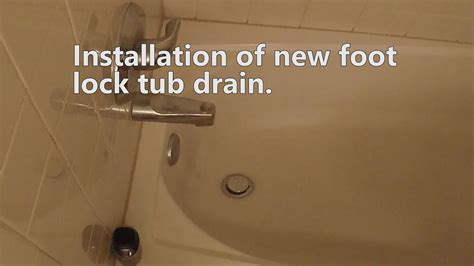 install  footlock tub drain   install  bathtub drain   replace  tub
