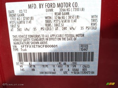 2012 f150 color code rz for metallic photo 62796233 gtcarlot