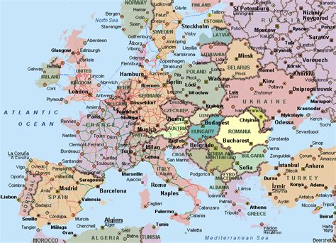 map of europe countries maps of europe countries