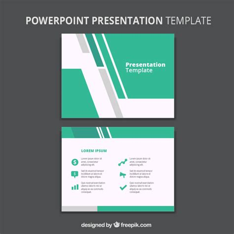 graphic design for powerpoint templates abstract business powerpoint template vector free download