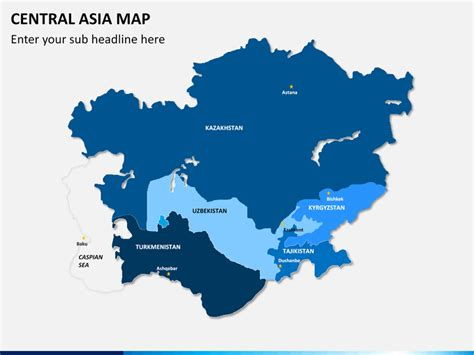 central asia map central asia map powerpoint sketchbubble