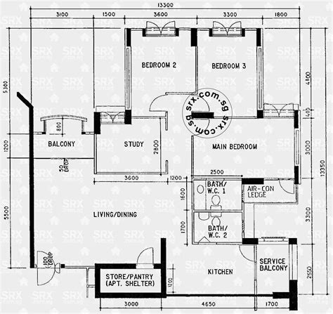 hdb floor plan floor plans for jurong west street 64 hdb details srx