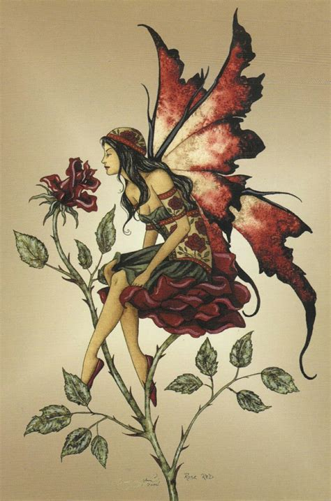 rose and fairy tattoo brown insomniatic dreams