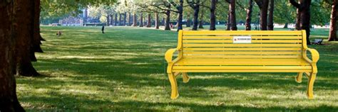friendship bench yellow is for hello trent s friendship bench and de