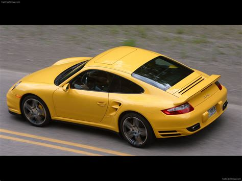 yellow porsche 2007 yellow porsche 911 turbo wallpapers