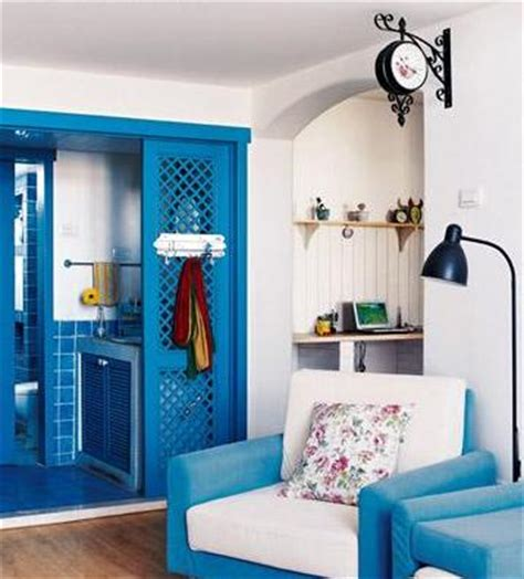 small house blue decorating blue and white home decor