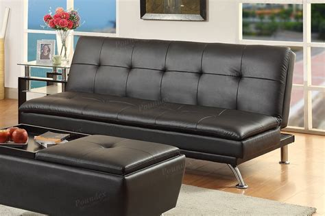 Faux Leather Futon Sofa Bed by Black Faux Leather Futon Sofa Bed