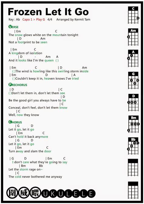 song ukulele 圍威喂 ukulele frozen let it go ukulele tab ukulele