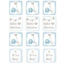 elephant baby shower printable cupcake toppers party
