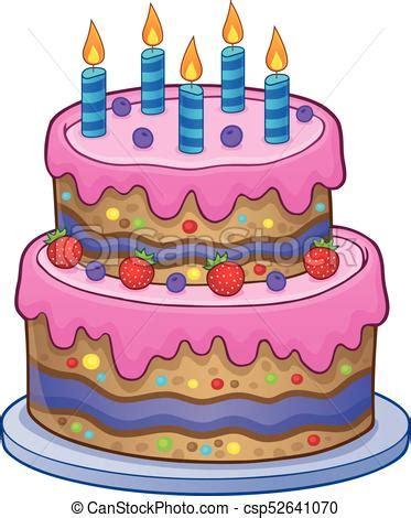 torta con candele torta candele compleanno 5 eps10 illustration