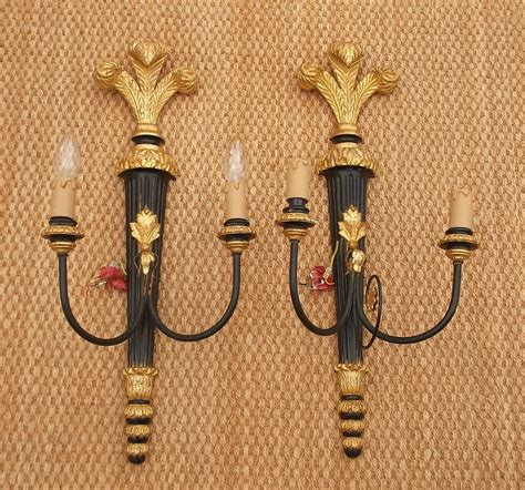 Vintage Wall Sconces Antiques Atlas Pair Of Vintage Wall Sconces